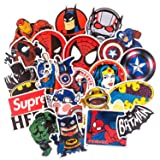 Vinyl Stickers[100pcs], Cool Superhero Sticker for Laptop Computer PC Water Bottle Car Helmet Skateboard Luggage Bike Bumper Waterproof Graffiti Decals,Gift for Kids, Adult- No-Duplicate Pack (Color: Series A)