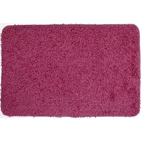 Tapis de bain rose tapis salle de bain m che rose achat for Tapis de salle de bain rose