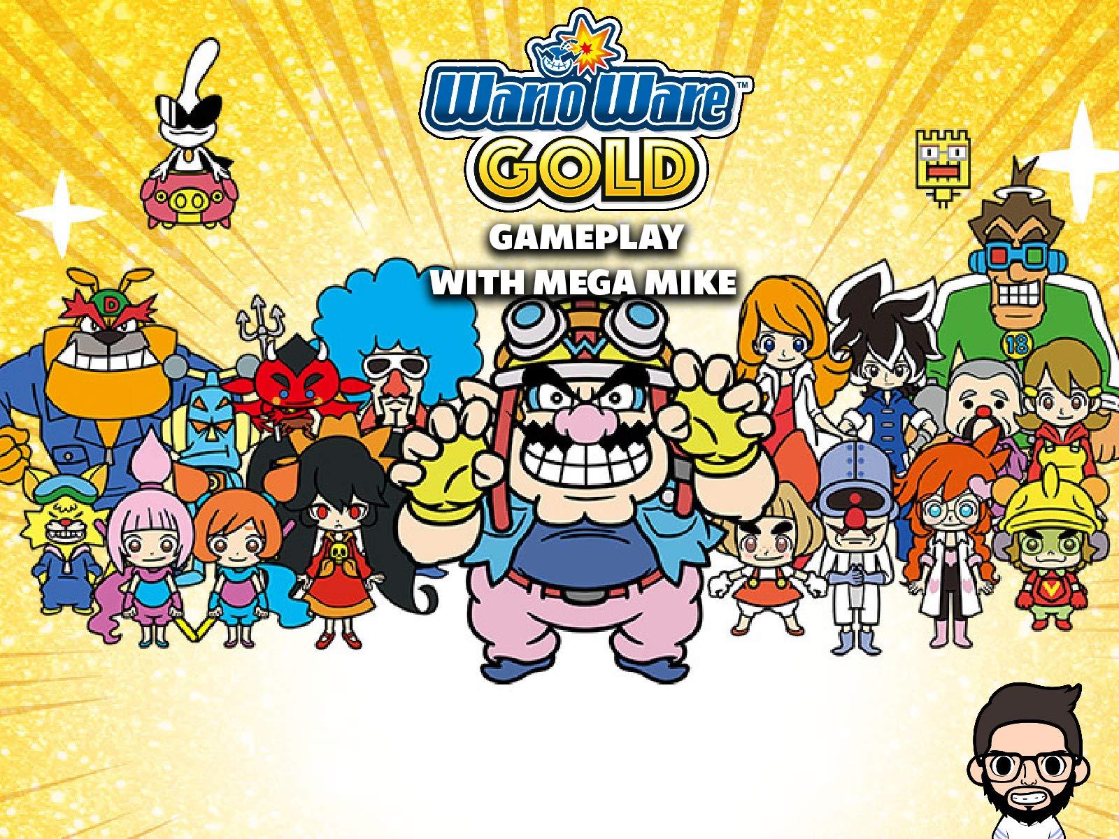 Wario Ware Gold Gameplay With Mega Mike - Season 1
