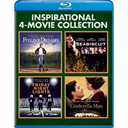 Inspirational 4-MovieCollection (Field of Dreams / Seabiscuit / Friday Night Lights / Cinderella Man) [Blu-ray]