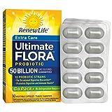 Renew Life Adult Probiotic - Ultimate Flora Probiotic Extra Care Go Pack, Probiotic Supplement - 50 Billion - 30 Vegetable Capsules (Tamaño: 30 Count)