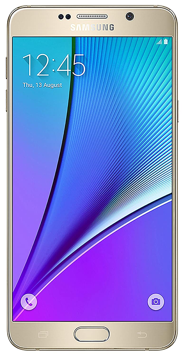 Samsung N920 Unlocked Galaxy Note 5, GSM 32GB Gold Factory - International Version (Gold)