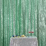 PartyDelight Sequin Backdrop, Photo Booth, Wedding Curtain Special Events, Party, Mint Green, 4FTx6FT (Color: Mint Green, Tamaño: 4FTx6FT)