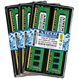 A-Tech 24GB ECC Unbuffered Memory Kit (6 x 4GB) for DELL Precision T3500 (3500) Workstation Desktop Tower - ECC UDIMM DDR3 PC3-10600 1333MHz 240-Pin DIMM 2Rx8 1.5V Dual Rank RAM (ATMS316754-10859X6) (Tamaño: 24GB Kit (6 x 4GB) 1333MHz)