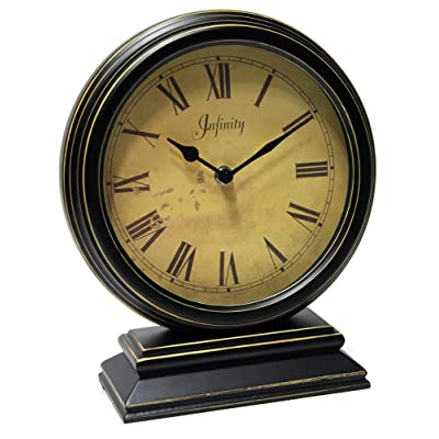 Infinity Instruments the Dais- Distressed Round Table Clock