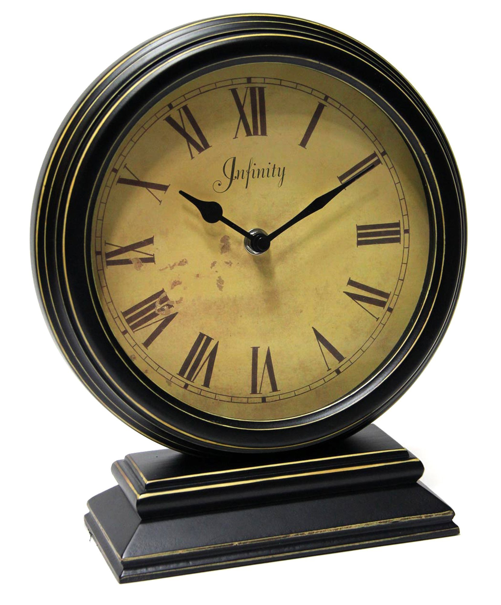 Infinity Instruments The Dais Distressed Round Table Clock