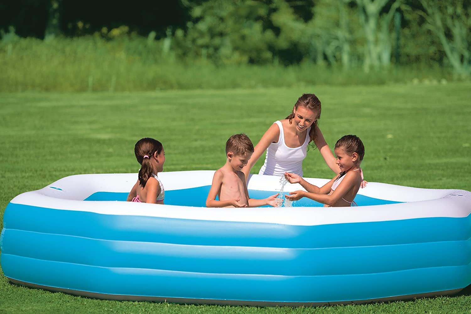 Piscine gonflable octogonale for Piscine gonflable geante