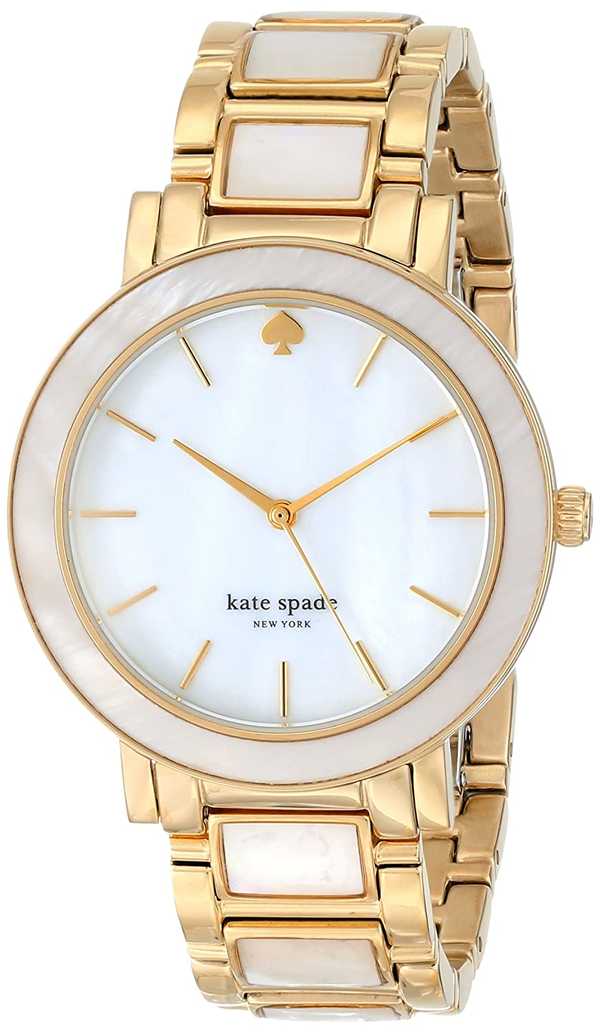 kate spade new york Women's 1YRU0394 Gramercy Gold-Tone and Mother-of-Pearl Bracelet Watch туфли kate spade туфли лодочки