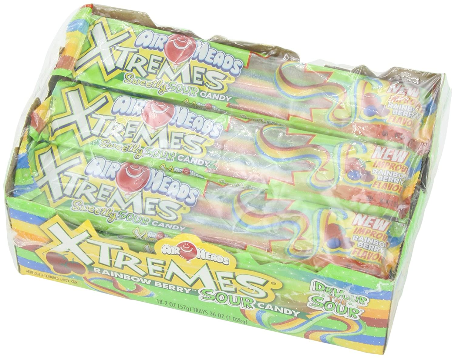 Airheads Xtreme Sour Belts Candy 36oz