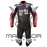 Aprilia One Piece Motorbike Racing Leather Suit (XXL) (Color: Red, Black, Tamaño: XX-Large)