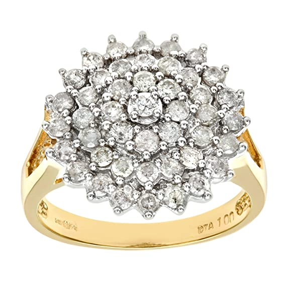 Naava 18ct Yellow Gold Ladies Diamond Ring