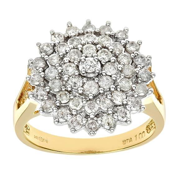 Naava 18ct Yellow Gold Ladies Diamond Ring