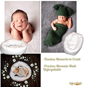 Baby Girl//Boy Photo Posing Props LIFES GREAT Newborn Photography Pillow Set Great Picture Creating Prop. 4 Pillows and 18 Bonus Stickers for Infant