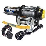 Superwinch 1140224 Winch (LT4000UTV 12 VDC, 4000 lbs./1814 kg single line pull, roller fairlead, Dash mount switch, handheld remote)