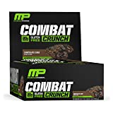 MusclePharm Combat Crunch Protein Bar, Multi-Layered Baked Bar, Gluten-Free Bars, 20 g Protein, Low-Sugar, Low-Carb, Gluten-Free, Chocolate Cake Bars, 12 Servings (Color: Brown, Tamaño: 12 Pack)