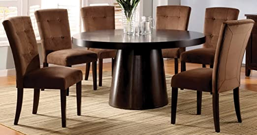 Furniture of America Primrose7-Piece Round Table Dining Set, Espresso