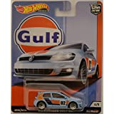 Volkswagen Golf MK7 Blue 1/5 Hot Wheels Limited Edition Car Culture Gulf Series 1:64 Scale Collectible Die Cast Model Car (Tamaño: 3