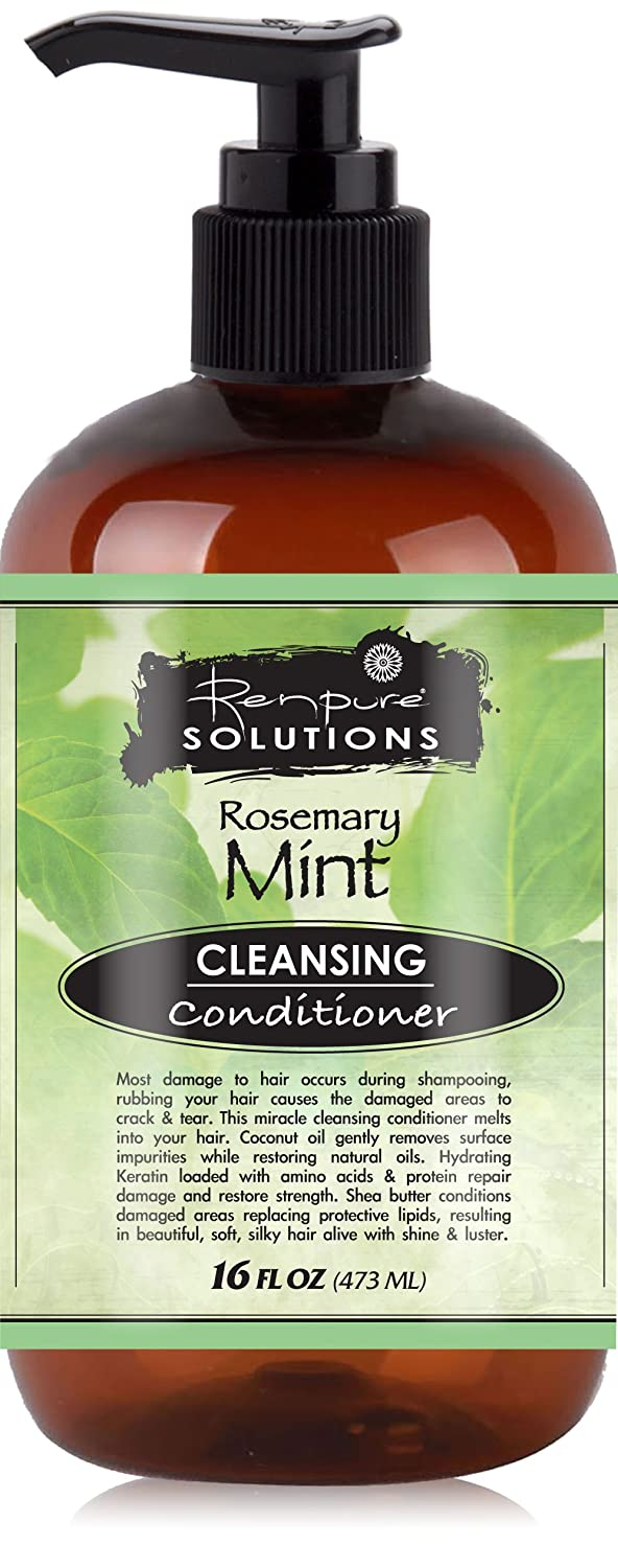 Renpure Solutions Cleansing Conditioner, Rosemary Mint, 16 Fluid Ounce 12v usb female to 3 5mm plug car audio mp3 cable silver white 15cm