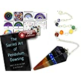 Living Gear Dowsing Pendulum Crystal with Download Link to 11 Charts and 29-Page Guide - Clear Your Home & Sacred Space, Heal Yourself, Balance & Align Chakras, Connect with Spirit (Color: Purple Blue Green Orange Yellow Red, Tamaño: 1.5-2 inches)