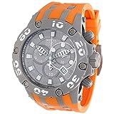 Invicta Men's 12087 Subaqua Reserve Chronograph Grey Dial Orange Polyurethane Watch (Color: silver)
