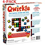 MindWare Qwirkle Board Game (Multicolored, 4-Pack) (Color: Multicolored, 4-pack)