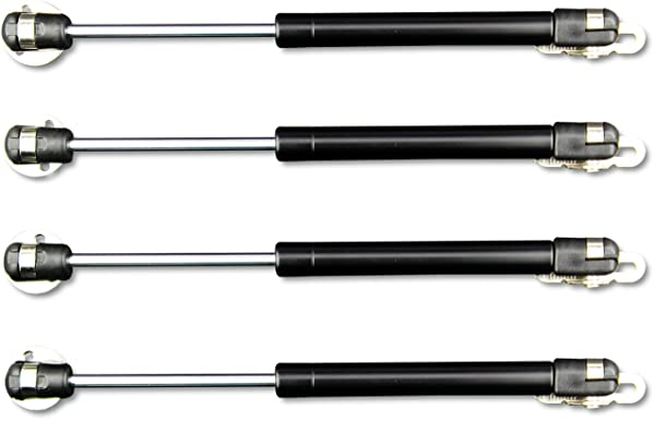 Apexstone 100N/22.5lb Gas Strut,Gas Spring,Lid Support,Lift Support,Lid Stay,Gas Props/Shocks,Set of 4 (Tamaño: Set of 4,Black)