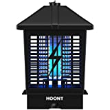 Hoont Powerful Electric Indoor Outdoor Bug Zapper with UV Light Trap – 1- 1/2 Acre Coverage / Fly Killer, Insect Killer, Mosquito Killer – For Residential, Commercial and Industrial Use [UPGRADED]