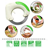 Amenitee Innovation Circular Rolling Knife - Rolling Knife for BBQ Vegetable Fruit Pizza (Color: Green, Tamaño: Circular)