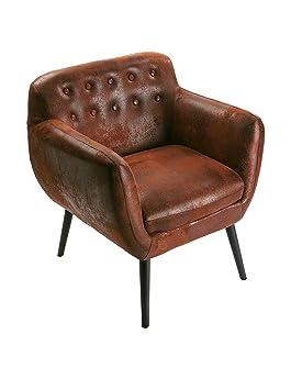 Versa 19500661 - Sofá individual, color marrón envejecido