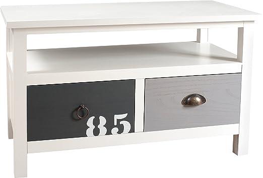 Nomades Design 704001–Mueble para TV con 2cajones madera/MDF 40x 80x 49cm