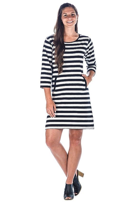 Noble Mount Womens Premium Cotton Knit Dress