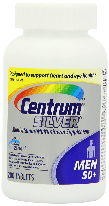 Centrum 善存 50岁以上男士银片200粒装,$13.96(到手价格约138元)