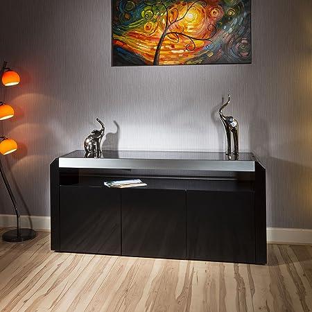 Modern Designer Sideboard / Cabinet / Buffet in Black Gloss 1.7mt 701M