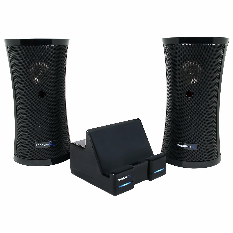 $69.99 Sabrent Weather Resistant 900MHz Wireless Indoor/Outdoor 150 Ft Stereo Speaker System