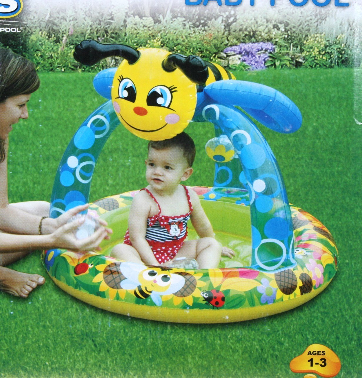 Stuff according to anais toddler pool with canopy for Baby garden pool