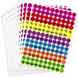 Boao 2800 Pieces Neon Colors Prepriced Garage Sales Stickers, Pricing Labels, Sale Labels, 3/4 Inch Diameter
