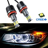 Mega 80W 7000K White H8 LED Angel Eyes Ring Marker Bulbs For BMW 1 3 5 X Series Z4 X5 X6