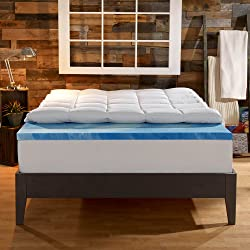 Sleep Innovations Dual Layer (Gel & Plush Fiber)