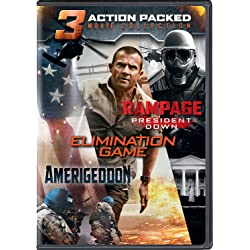Action Packed 3-Movie Collection (Rampage: President Down / Elimination Game / Amerigeddon) [DVD]