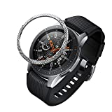 BaiHui Compatible with Galaxy Watch Bezel Ring 46mm / Galaxy Gear S3 Frontier & Classic Bezel Ring,Stainless Steel Bezel Ring Protection Cover for Galaxy Watch Accessory (Silver - 06) (Color: 06-Silver)