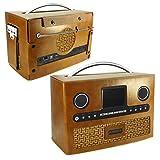 Tuff-Luv Roberts DAB radio Stream 93i Retro Vintage leather case - Brown (Color: brown)