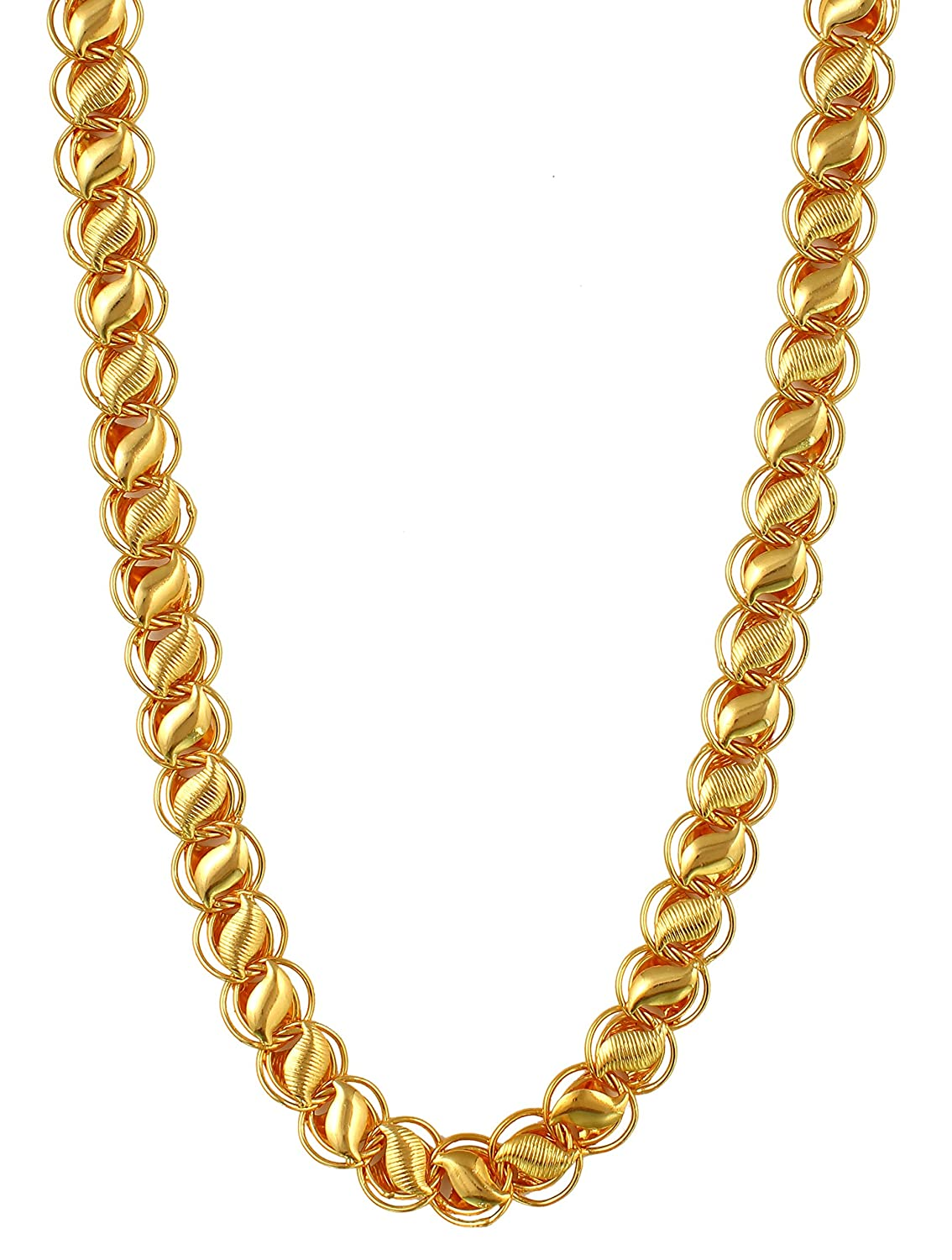 Ashvi Jewels Designer Gold Plated Chain Combo For Mens ...