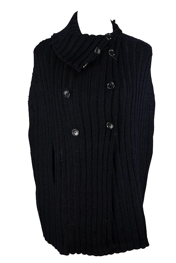 Woolrich Blue Wool Blend Women's Poncho Size Xl US Regular