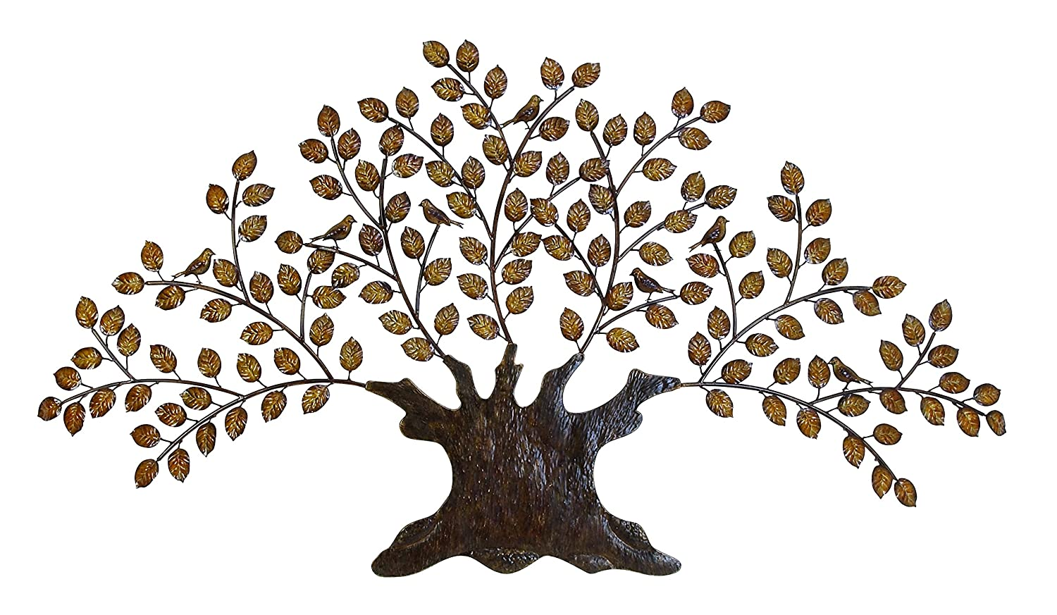 tree of life metal wall art large decoration with branch and leaves. Black Bedroom Furniture Sets. Home Design Ideas