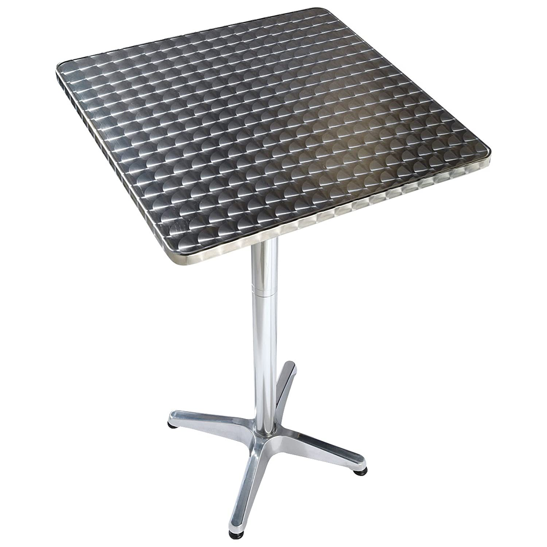 Bistrotisch klappbar Aluminium Silber ca. B60 x T60 cm günstig