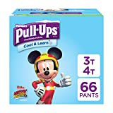 Pull-Ups Cool & Learn, 3T-4T (32-40 lb.), 66 Ct. Potty Training Pants for Boys, Disposable Potty Training Pants for Toddler Boys (Packaging May Vary) (Color: Blue, Tamaño: 3T-4T)