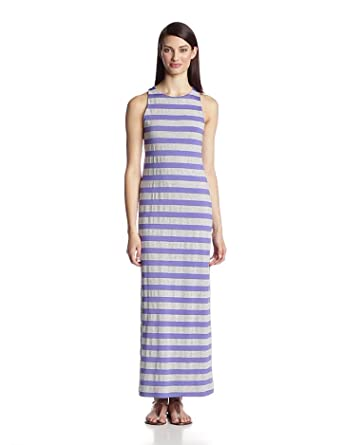 Susana Monaco Women's Heather 40 Inch Stripe Trudie Maxi Dress, Dawn/Heather, X-Small