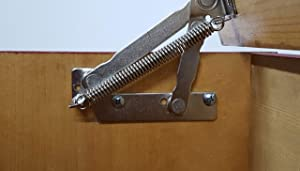 Bench Seat Hinge for Toy Chest- Lid Support Stay Hinge- Heavy Duty No Slam Safety Torsion Hinge.