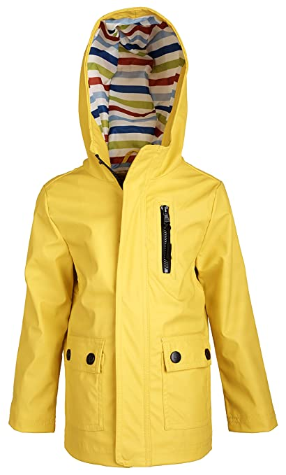 Urban Republic Little Boys Waterproof Hooded Fully Lined Spring Raincoat Jacket