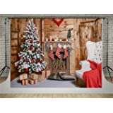 Kate Wood House Photography Backdrops Christmas Tree Background Fireplace Red Socks Backdrop for Children (10x6.5ft) (Color: 4699, Tamaño: 10x6.5ft)